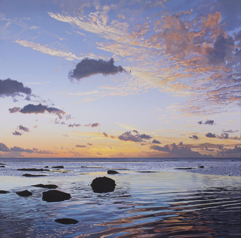Nikao Sunset Acrylic on Canvas 1200x1200mm