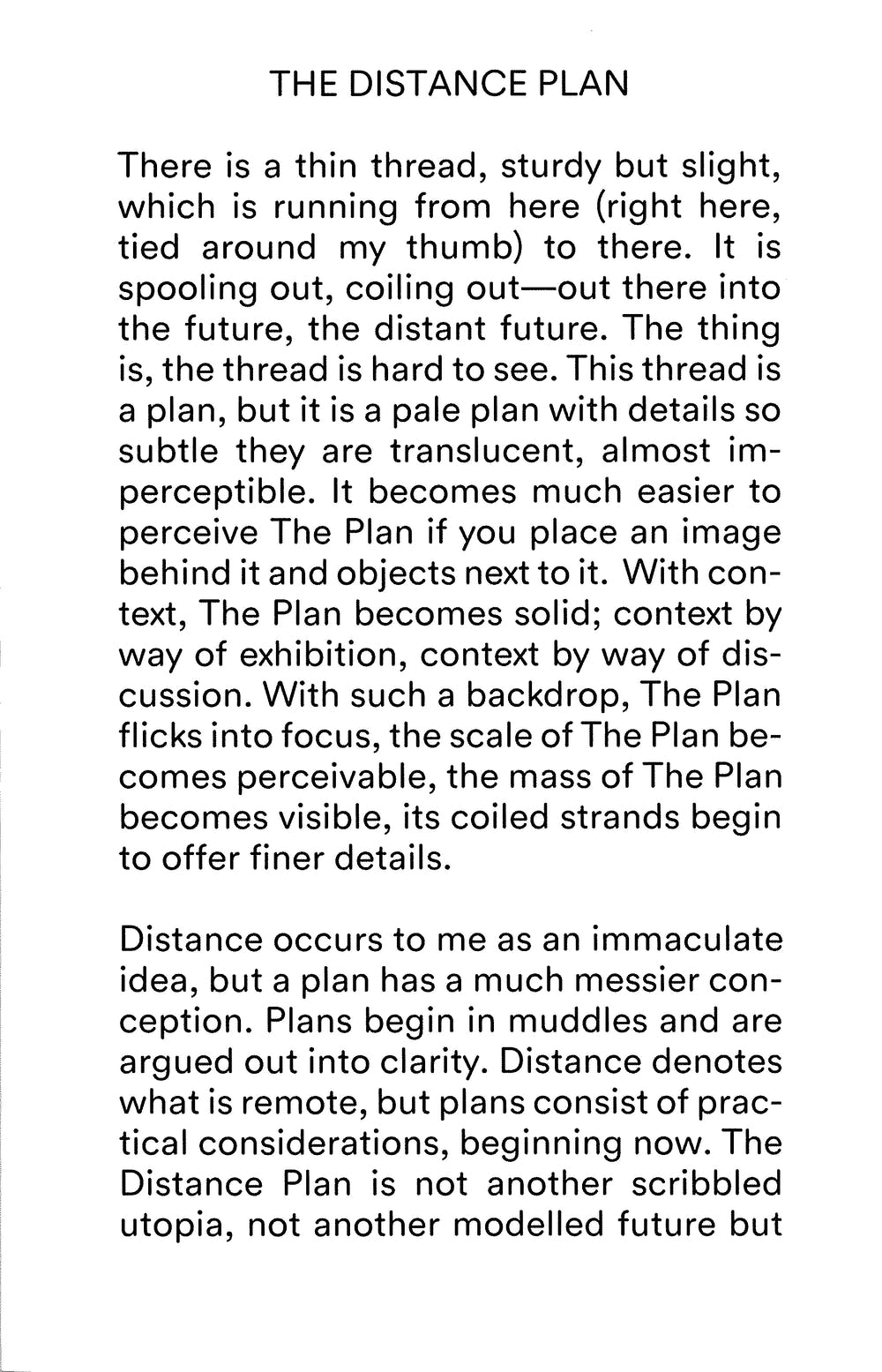 The Distance Plan 1
